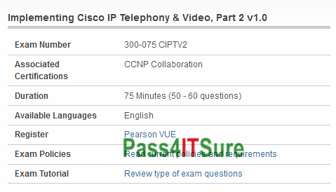 New Dumps Version] Valid and Updated Cisco 300-075 Dump