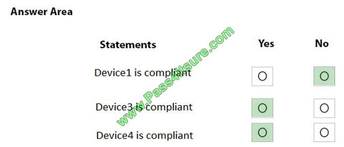 pass4itsure md-101 exam question q11-1