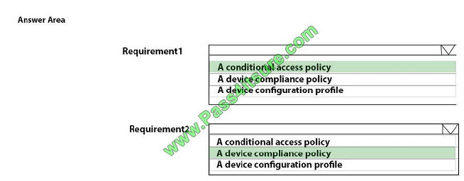 pass4itsure md-101 exam question q13-2