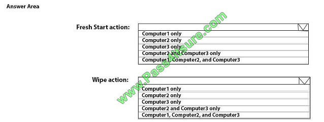 pass4itsure md-101 exam question q9-1