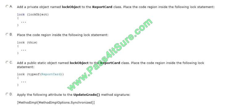 Pass4itsure 70-483 exam questions-q13