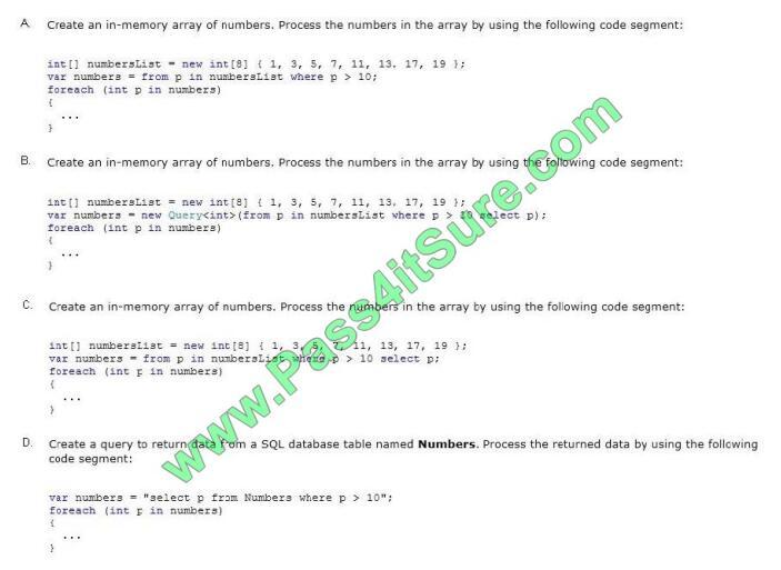 Pass4itsure 70-483 exam questions-q7