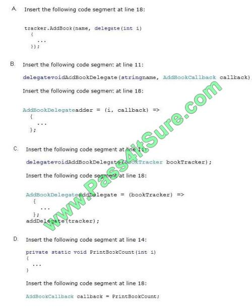 Pass4itsure 70-483 exam questions-q8-2